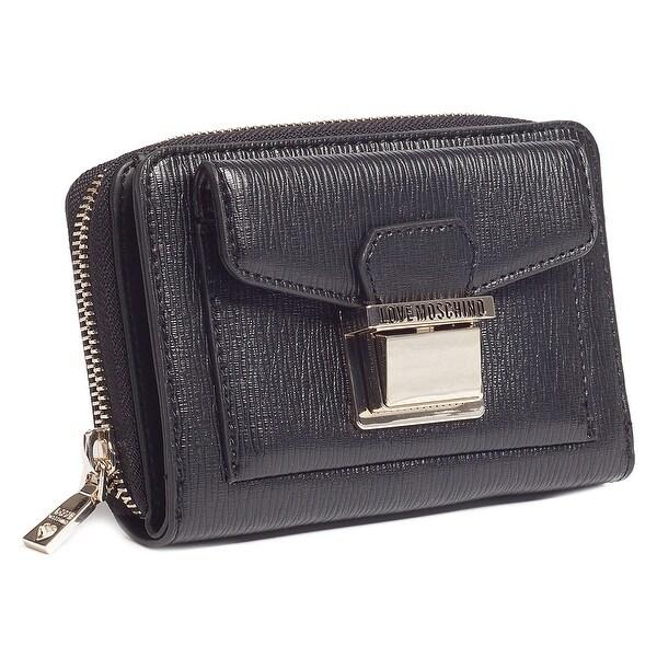 Moschino JC5549 0000 Black Zip Around Wallet - 7.5-4-1.2