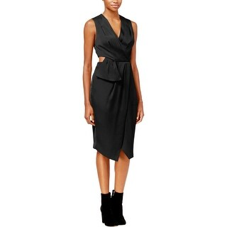 Rachel Roy Womens Cocktail Dress Faux-Wrap Cutout