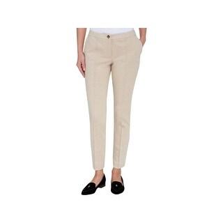 Tommy Hilfiger Womens Trouser Pants Slim Leg Ponte