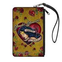 "Buckle-Down Buckle-Down Zip Wallet Wonder Woman Large Accessory, -Wonder Woman, 8"" x 5"""