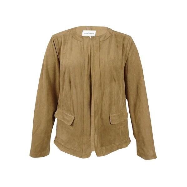 c6048e61e32 Shop Charter Club Women s Plus Size Open-Front Faux-Suede Jacket (3X ...