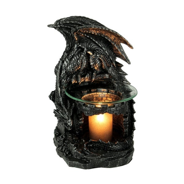 Fragrance of the Fierce Dragon Castle Guardian Electric Oil Burner - 9 X 5.5 X 5.75 inches