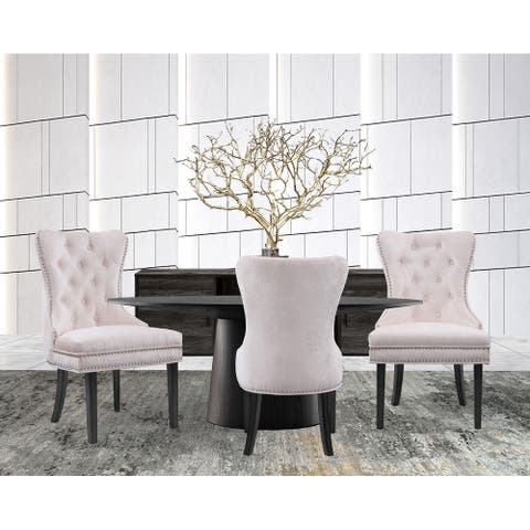 Chic Home Elizabeth Velvet Upholstery Dining Accent Chairs (Set of 2)