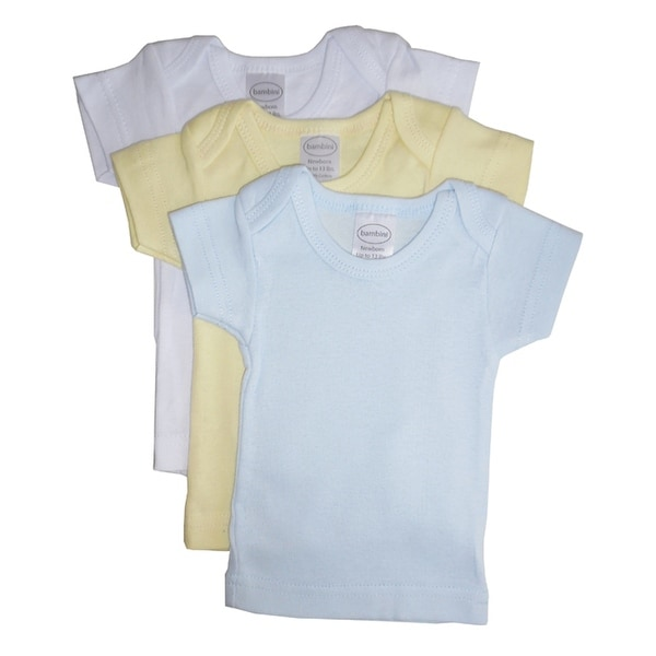 Bambini Boys Pastel Variety Short Sleeve Lap T-shirts - 3 Pack - Size - Small - Boy