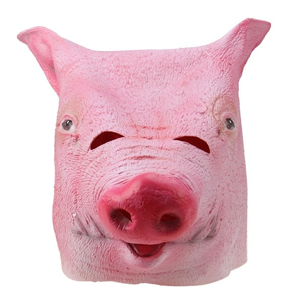 Halloween Party Decorations Creepy PIG head latex Rubber Mask Perfect for Harlem Shake& Gangnam Style