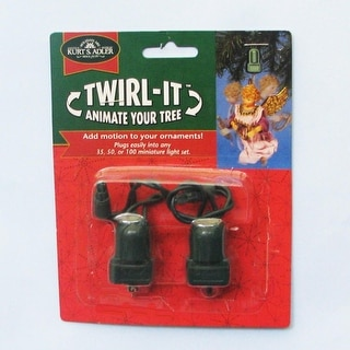 Club Pack of 24 Twirl-It Green Rotating Christmas Ornaments Hooks