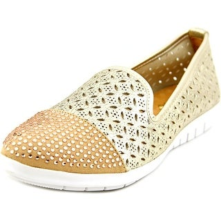 Spring Step azul Women Round Toe Leather Gold Loafer