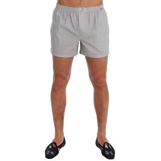Dolce & Gabbana Dolce & Gabbana White Print Cotton Pajama Shorts