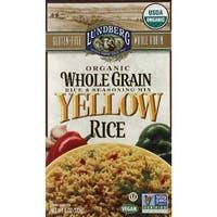 Lundberg Family Farms Organic Whole Grain Yellow Rice - Case of 6 - 6 oz.