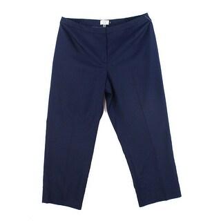 Le Suit Navy Blue Womens Size 20W Plus Flat Front Dress Pants