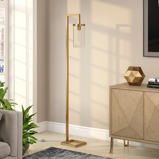 Link to Malva Brass finished Floor Lamp with Clear Glass Similar Items in Floor Lamps