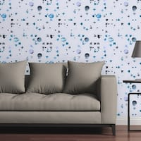 Circle Art Group Removable Wallpaper Tile - Confetti Blue