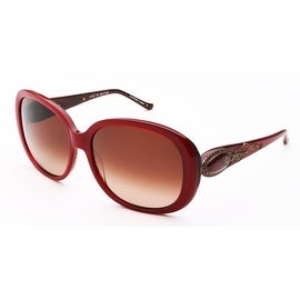 Judith Leiber Women's Radiance Sunglasses Ruby/Horn - Small