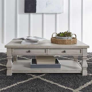 Link to Harvest Home Cottonfield White Cocktail Table Similar Items in Living Room Furniture