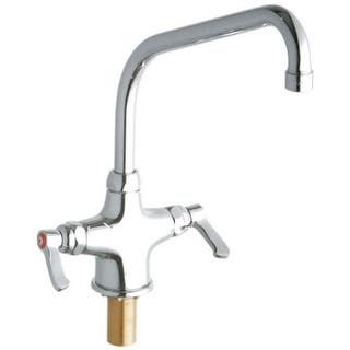 """Elkay LK500HA10L2 ADA Single Hole Concealed Deck High Arc Spout Food Service Faucet with 10"""" Reach High Arc Spout