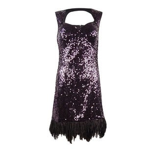 Guess LA Women's Nikki Sequin Dress - Purple - 6