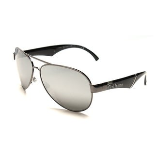 John Galliano Women's Aviator Style Sunglasses Black/Silver - Small