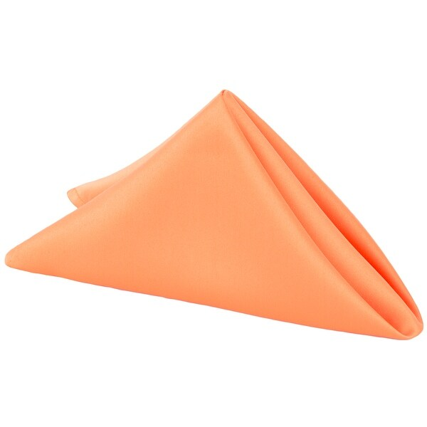 "50 Pieces, Lamour Satin Napkin Approx. 20""x20"" square Edge: Hemmed - Orange"