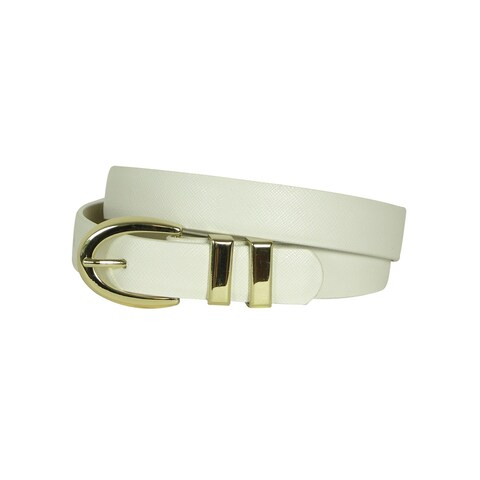 Style & Co. Women's Solid Color Textured Lining Belt