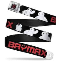 Baymax Hanko Full Color Black Red Baymax Poses Black White Red Webbing Seatbelt Belt