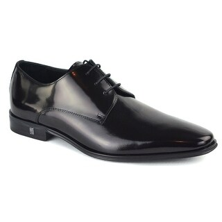 Versace Collection Mens Black Patent Lace Up Derbys