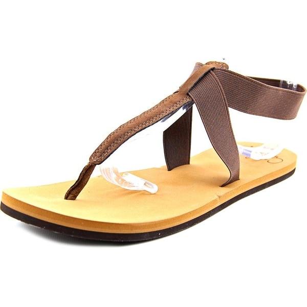 Reef Cushion Moon Women Open Toe Canvas Brown Thong Sandal