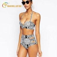 a4df1c2d20 Similar Items. High Waist Swimsuit Halter Bandage Biquines Retro Vintage  Bikini Set 2017 Plus Size Swimwear Women Beach