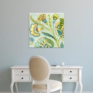 Easy Art Prints Sydney Wright's 'Decorative Golden Bloom I' Premium Canvas Art