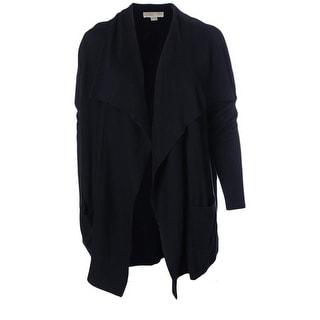 MICHAEL Michael Kors Womens Plus Knit Ribbed Trim Cardigan Sweater - 2X