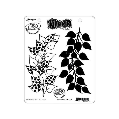 Ranger Dylusions Cling Stamp Branching Out