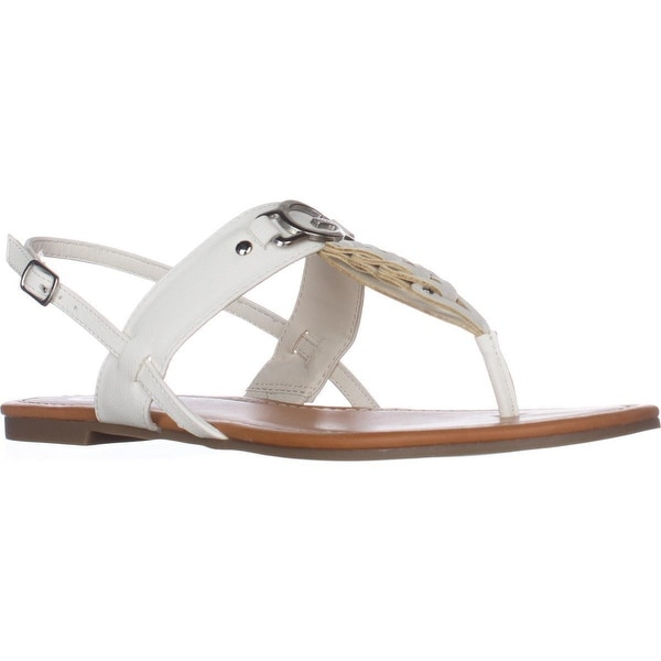 G Guess Liberty Flat Sandals, White