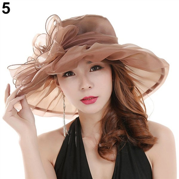Women's Fashion Summer Church Kentucky Derby Cap British Tea Party Wedding Hat. Opens flyout.