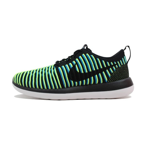 Nike Women's Roshe Two 2 Flyknit Black/Black-Photo Blue-Volt 844929-003