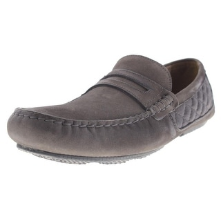 Andrew Marc Mens Metropolis Nubuck Quilted Loafers