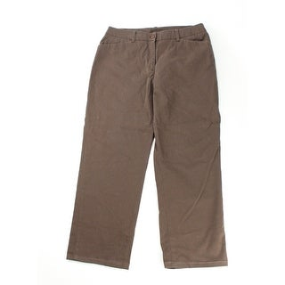 Style & Co. Brown Straight-Leg Pants 8 - small