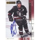 Justin Mapletoft RedDeer Rebels New York Islanders 2001 Upper Deck Prospects Autographed Card Roo