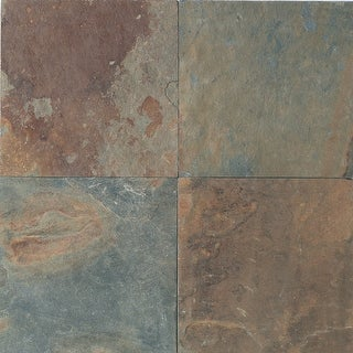 """Daltile S1616P3S  Slate Collection - 16"""" x 16"""" Square Wall & Floor Tile - Unpolished Slate Visual - Mongolian Spring"""