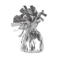 Club Pack of 12 Metallic Silver Party Balloon Weight Decorative Birthday Centerpieces 6 oz.