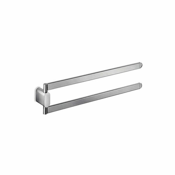 "WS Bath Collections Mito A20150 Mito 15-7/10"" Double Swing Towel Bar - Polished Chrome"