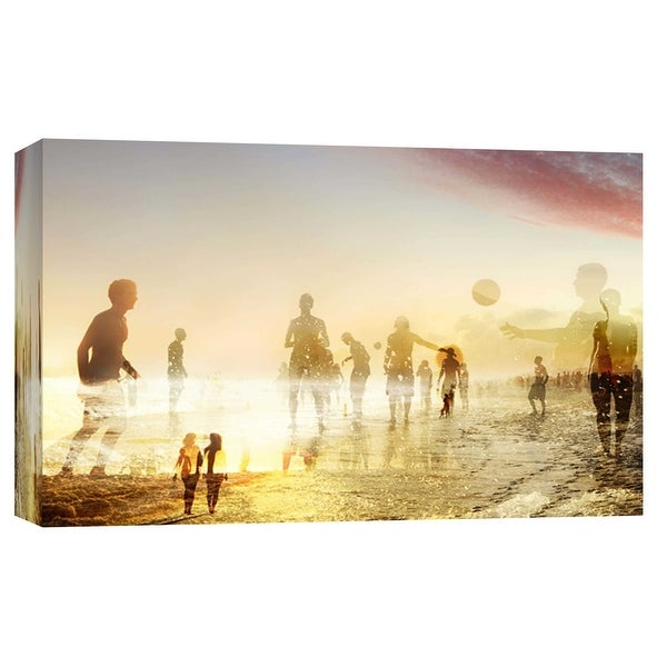 """PTM Images 9-103686 PTM Canvas Collection 8"""" x 10"""" - """"Beach Fun B"""" Giclee Men and Women Art Print on Canvas"""