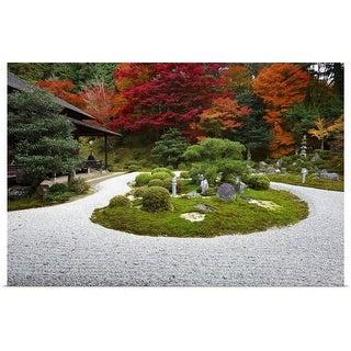 """""""Zen garden, Manshuin Monzeki"""" Poster Print"""