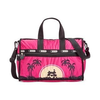 Le Sportsac Womens Weekender Handbag Graphic Contrast Trim - love in paradise - Medium