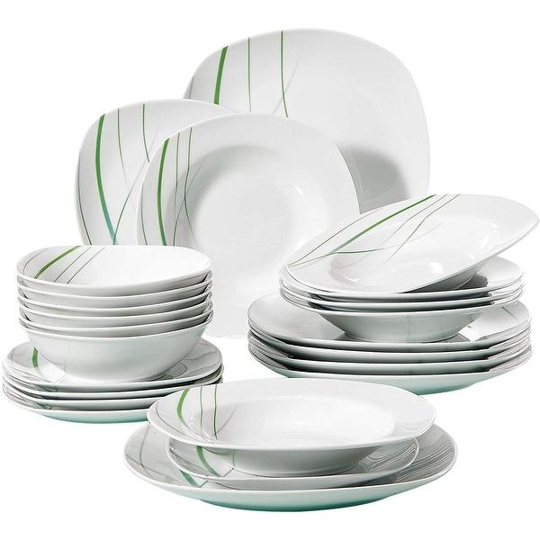 VEWEET 'Aviva' Porcelain Dinnerware Set (Service for 6). Opens flyout.