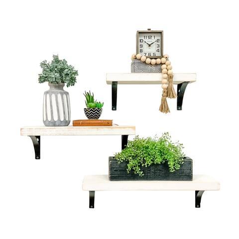 """Industrial Grace Simple Shelves, 3-piece Set (16""""/20""""/24"""")"""