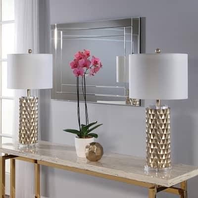Abbyson Francesco Textured Gold 30-Inch Table Lamp (Set Of 2)