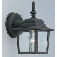 """Designers Fountain 2861-AG 1 Light 5.25"""" Cast Aluminum Wall Lantern from the Quintessence Collection"""
