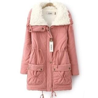 Wool Fur Warming Oversize Outerwear Coat Long Jackets