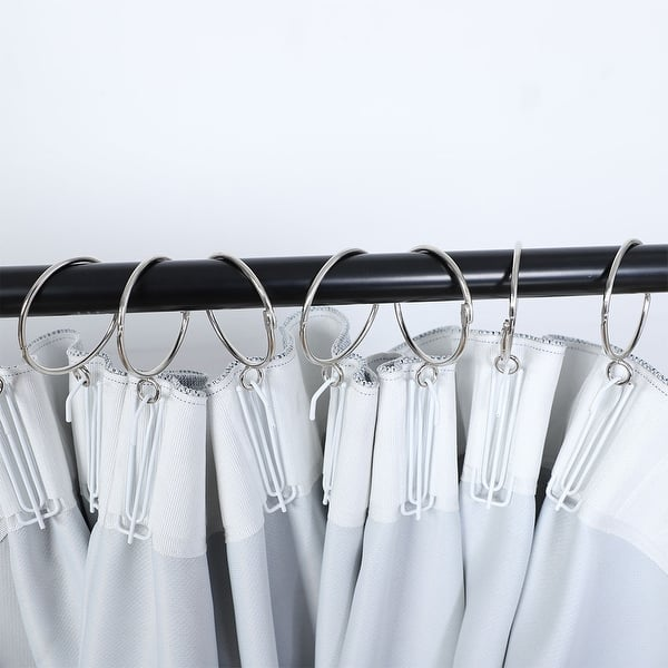 10pcs Curtain Rod Rings with Eyelet White