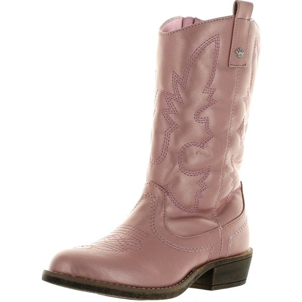 Nina Kids' Girls Kylie Western Cowboy Boot Pre/Grade School - pink metallic - 3 m us little kid