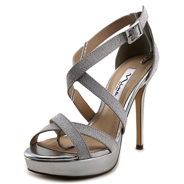Nina Sevilla Women Silver Glitter Sandals